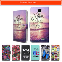 100% Special Luxury PU Leather Flip Cartoon wallet case Book case for Nomi i503 Jump. gift