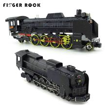 Finger Rock Metal 3D DIY Puzzles for Adult Laser Cutting Jigsaws Color Locomotives D51 Steam Train Educational Model Toys