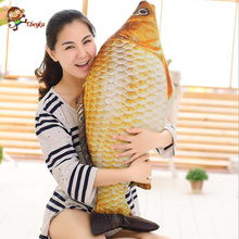 New 3D Grass Carp Pillow PP Stuffed Plush Simulation Animal Fish Toy Big Classic 20- 80cm 1pcs Children Lovers Birthday Gift