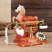 Special high-grade imitation jade antique telephone set fashion European style antique telephone Decoration home classical phone(China)