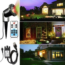 Laser Projector Lamp for Garden IP65 Waterproof Outdoor Decoration Dynamic Firefly Starry Lawn Christmas Party Landscape Light(China)