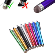11.2cm Metal Mesh Fine Point Round Thin Tip Capacitive Stylus Pen Tablet Stylus Pen For iPad 2/3/4/air/mini random color(China)