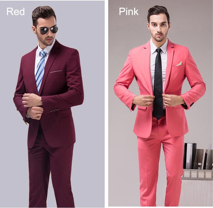 HTB16EceRXXXXXXjapXXq6xXFXXXs - OSCN7 12 Color 2pcs Slim Fit Suits Men Notch Lapel Business Wedding Groom Leisure Tuxedo 2017 Latest Coat Pant Designs S-4XL
