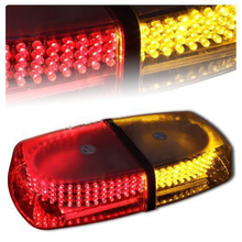 240 LED Red&Yellow Emergency Hazard Warning LED Mini bar Strobe Light w/ Magnetic Base For Jeep Vw golf kia lada opel honda