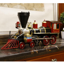 Antique retro spray painting loco locomotive iron model ornaments pure handicrafted home decor birthday gifts new house decor