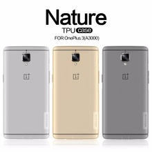 Oneplus 3 Nillkin TPU 0.6mm Ultra thin Phone Cases for Oneplus 3t A3000 Silicone Cover Crystal Clear Case + Retail Package(China)