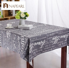 High-grade Tropical table cover tablecloth cotton table cover for table cotton and linen cartoon thicken table cloth(China)