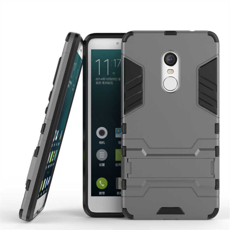 for Xiaomi Redmi Note 4 Dual Shockproof Rugged Hybrid Armor Case for Xiaomi Redmi Note 4 Cover With Kickstand Phone Accessories