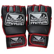 New Kick Boxing Gloves MMA Gloves Muay Thai Training Gloves MMA Boxer Fight Boxing Equipment Half Mitts Badboy PU Leather Black