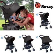Sozzy Black Sun Shade For Baby Stroller Sunshade Cover for Pram Buggy Pushchair Pram Car Covers Sun Shade Anti Ultravilet Rays(China)