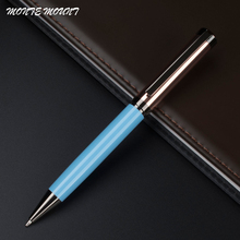 Luxury MONTE MOUNT pen capless collection Sky blue and rose gold pen office supplies ballpoint pen for writing(China)
