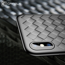 CAFELE Case For iPhone X Cases Luxury Silicone Ultra Thin Soft TPU Phone Lattice series Grid Weaving Case For iPhone X cover(China)