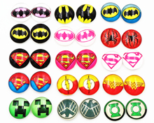 Hot Sale 20pcs/Lot 12mm Super Bats Spider Style Handmade Glass Cabochons Pattern Domed Jewelry Accessories Supplies(China)