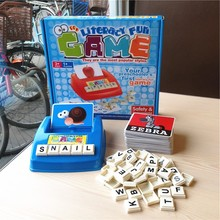 Free game desk toy children educational toys play Kids word game online learn english ABC letter literacy Card boggle Puzzle(China)