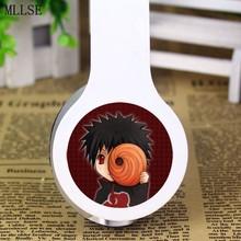 MLLSE Anime Naruto Uchiha Obito Foldable Headband Headphone Earphone 3.5mm Stereo Bass Game Headset for Iphone Samsung Xiaomi PC
