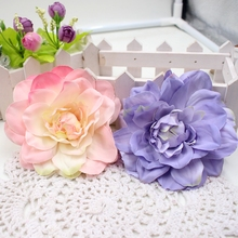 2Pcs Artificial flowers high quality Silk Dahlia Flower Head For Wedding Decoration DIY Garland Decorative Floristry Fake Flower