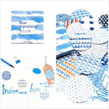 40pc/set Blue Impression Bookmark Stickers Pack Post It Kawaii Planner Scrapbooking Sticky Stationery Escolar School Supplies(China)