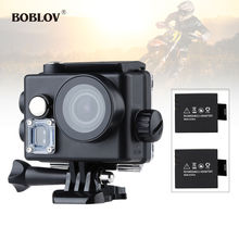 "BOBLOV 2.0"" LCD 16MP HD WiFi Sports Helmet Camera Cam Video Action Camcorder HDMI Waterproof  Black+ 2 x 1000mAh Battery"