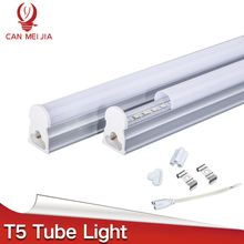 New Led Tube T5 Integrated 300mm 600mm 900mm 1200mm 1ft 2ft 3ft 4ft T5 Led Tube Light Lamp Fixtures 5W 10W 15W 220V Wall Lamps(China)