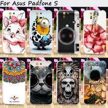 TAOYUNXI Cell Phone Skin Cover For Asus Padfone S PF500KL 5.0 inch Cases Soft TPU Cartoon TV Top Sales Painted Protective Shell