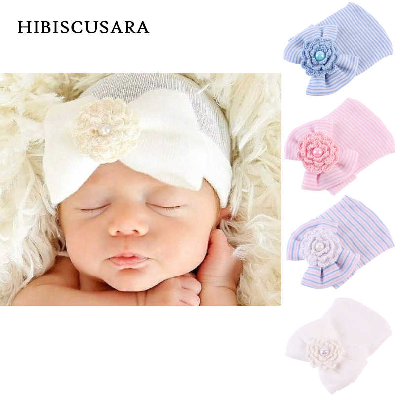 dd61988f48f Newborn Soft Hat Photography Props Bebe Bonnet With Big Bowknot Infant Girl  Autumn Winter Knitted Cap