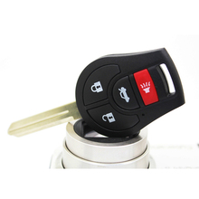 Free Shipping 3+1 Button Car Remote FOB Replace Key 433MHZ For Nissan New Sunny With Chip For Nissan Key Shell Case