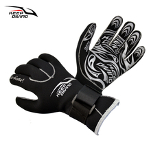 KEEP DIVING 3MM Neoprene Scuba Dive Gloves Snorkeling Equipment Anti Scratch Keep Warm Wetsuit Material Winter Swim Spearfishing(China)