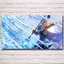 Dota 2 Video Game Art Silk Fabric Poster Prints Home Wall Decor Painting Boy Room Gift 11x20 16x29 20x36 Inch Free Shipping