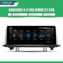 "10.25"" Quad Core Android 4.4 Vehicle multimedia player For BMW X1 F48 Bluetooth gps navigation Wifi Steering Wheel EW966A(China)"