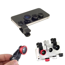 brand new Fisheye Lens 3 in 1 mobile phone clip lenses fish eye wide angle macro camera lens for all mobile phones