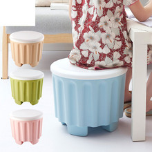 Colorful Stackable Plastic Storage Box Chair Creative Home Furnishings Sundries Organizer Chairs Large Storage Box Fashion Boxes