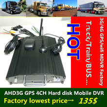 AHD4 road 3 g GPS factory direct selling car video recorder mobile dvr truck/bus drive monitoring host 720 p / 960 p/D1 MDVR