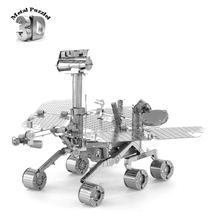 NASA 3D Metal Puzzles Miniature Model DIY Jigsaws Robot Cartoon Model Gift for Children Mars Exploration Rover, MER(China)