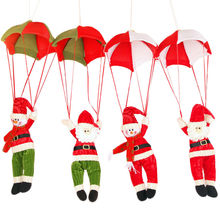 Cheap 1x Christmas Decorations New Year Santa Claus Snowman Parachute Drop Pendants Xmas Tree Hanging Ornaments Gifts Toys SD39