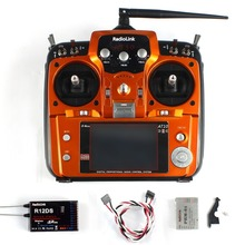 AT10 II 2.4Ghz 10CH RC Transmitter with R12DS Receiver PRM-01 Voltage Return Module for RC Helicopter Quadcopter
