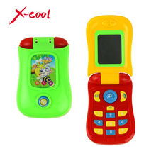 X-Cool 1003 Funny Flip phone toy Baby Learning Study Musical Sound phone Educational Toy mobile phone electric toy for kid
