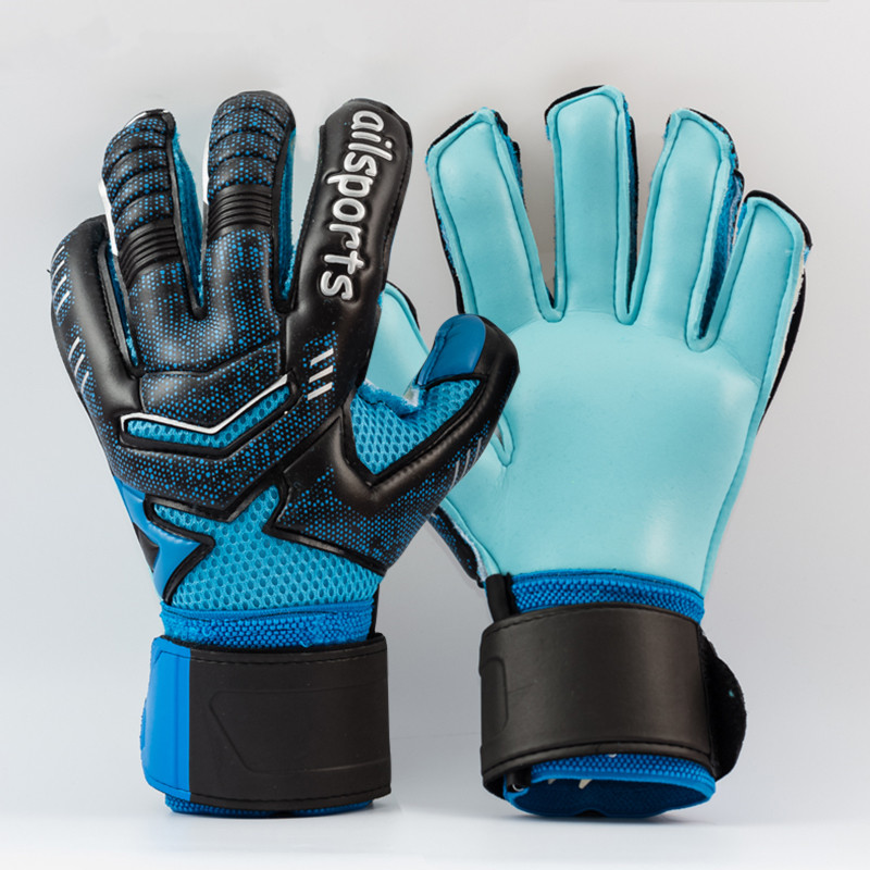 Professional Thicken Breathable Non-slip latex Football Goalkeeper Gloves Goalie Soccer Goal Keeper Gloves keepershandschoenen(China (Mainland))