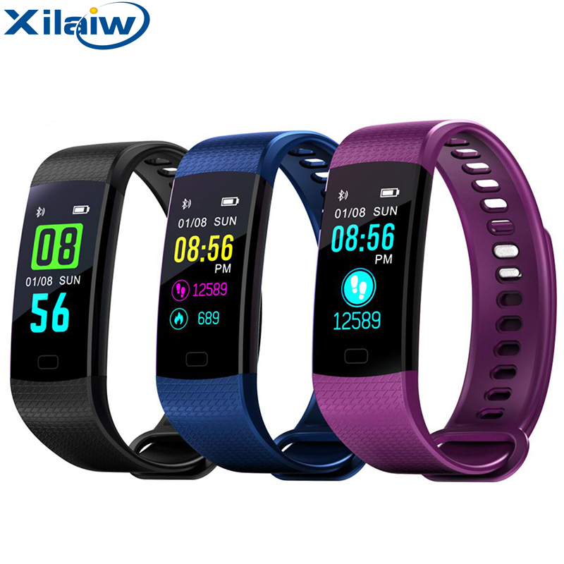 Xilaiw Y5 Color Screen Smart Wristband Fitness Sport Tracker Smart band Blood Pressure Heart Rate Smart Bracelet VS Miband 2 T40