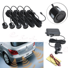 Parking 4 Sensors Car Reverse Backup Rear Buzzer Radar System Kit Sound Alarm(China)