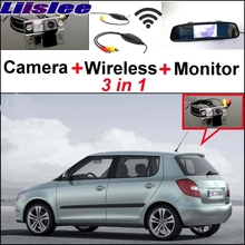 Liislee Special Rear View Wifi Camera + Wireless Receiver + Mirror Monitor Easy Back Up Parking System For Skoda Fabia 5J MK2