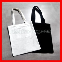 (200 pieces/lot)  size 30x35cm plain white cotton shopping bag with logo custom