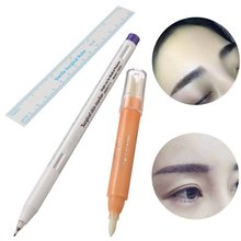 New Surgical Skin Marker Pen Positioning Tool Set With Remover Magic Brush For Eyebrow Tattoo Piercing Permanent Makeup Tebori