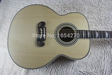 Free Shipping New Arrival Dot Spruce Beige Electric Acoustic Guitar WITH fishman pickup with hard case   140401