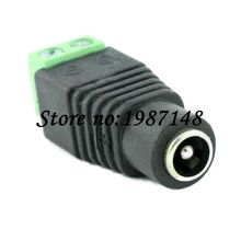 10pcs CCTV Camera 5.5 x 2.1mm DC Power Cable Female Plug Connector Adapter Jack 5.5*2.1mm(China)