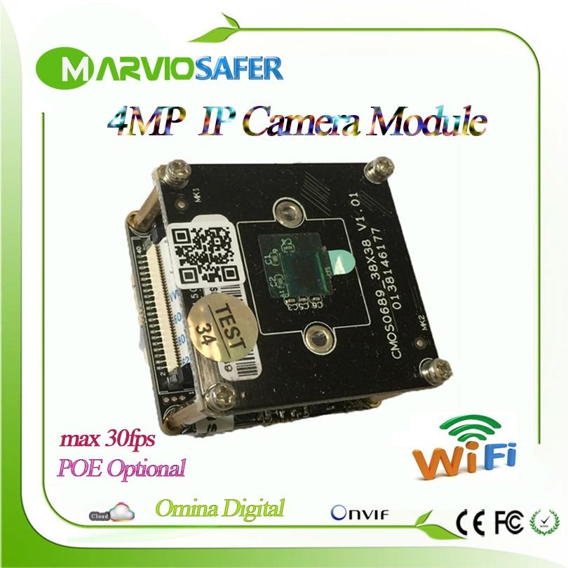 New Hot H.265/H.264 4MP 2592*1520 1080P Full HD Wifi IP Network Camera module Good Good IR Night Vision CCTV Board Audio Alarm<br>
