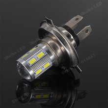 1Pcs High Quality H4 12 SMD 5730 5630 LED Car Fog Lamp Turn Signal Auto Bulb Q5 Canbus OBC Error Free Replace HID Halogen Lights