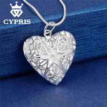 Best Selling Fashion Silver  Pendant Locket Plate Heart Charm Necklace    13 styles Cheap Good quality Wholesale Price CYPRIS