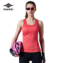 Buy 2018 Santic Summer Cycling Vest Women Breathable Bike Sports Vest Bicycle Clothing Quick Dry Fitness Sleeveless Jersey Ciclismo for $21.23 in AliExpress store