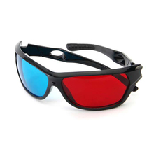 2017 New Universal 3D Glasses Plastic Black Frame Red Blue 3D Vision Glass For Dimensional Anaglyph Movie DVD Video TV Games(China)