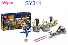 WAZ SY311 189Pcs Star Wars On Saleucami Battle Droid Block Toys For Children Lepin Building Bricks